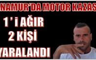 ANAMUR'DA MOTOR KAZASI; 1'i AĞIR 2 KİŞİ AĞIR YARALANDI