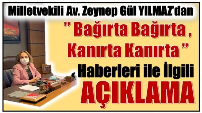 AK PARTİ Milletvekili YILMAZ'dan Açıklama